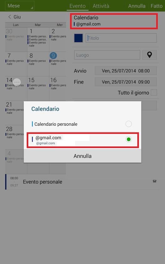 Esportare Calendario Android.Esportare Calendario Da Personale A Google Calendar