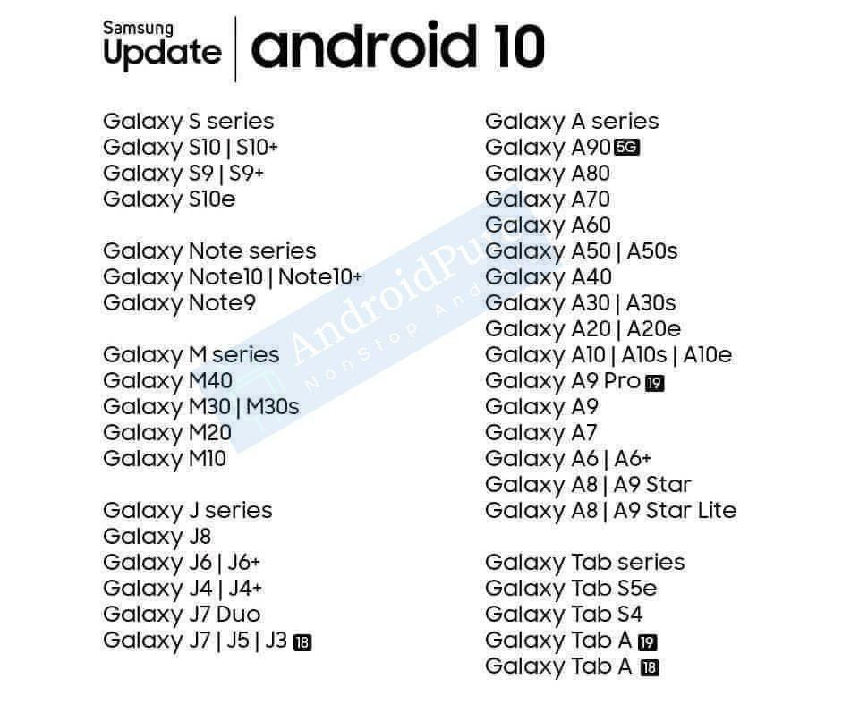 samsung-galaxy-android-10-update-list