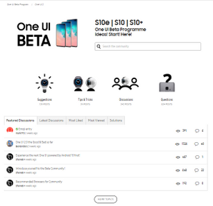 Participants offered and debated suggestions in the One UI Beta hubs