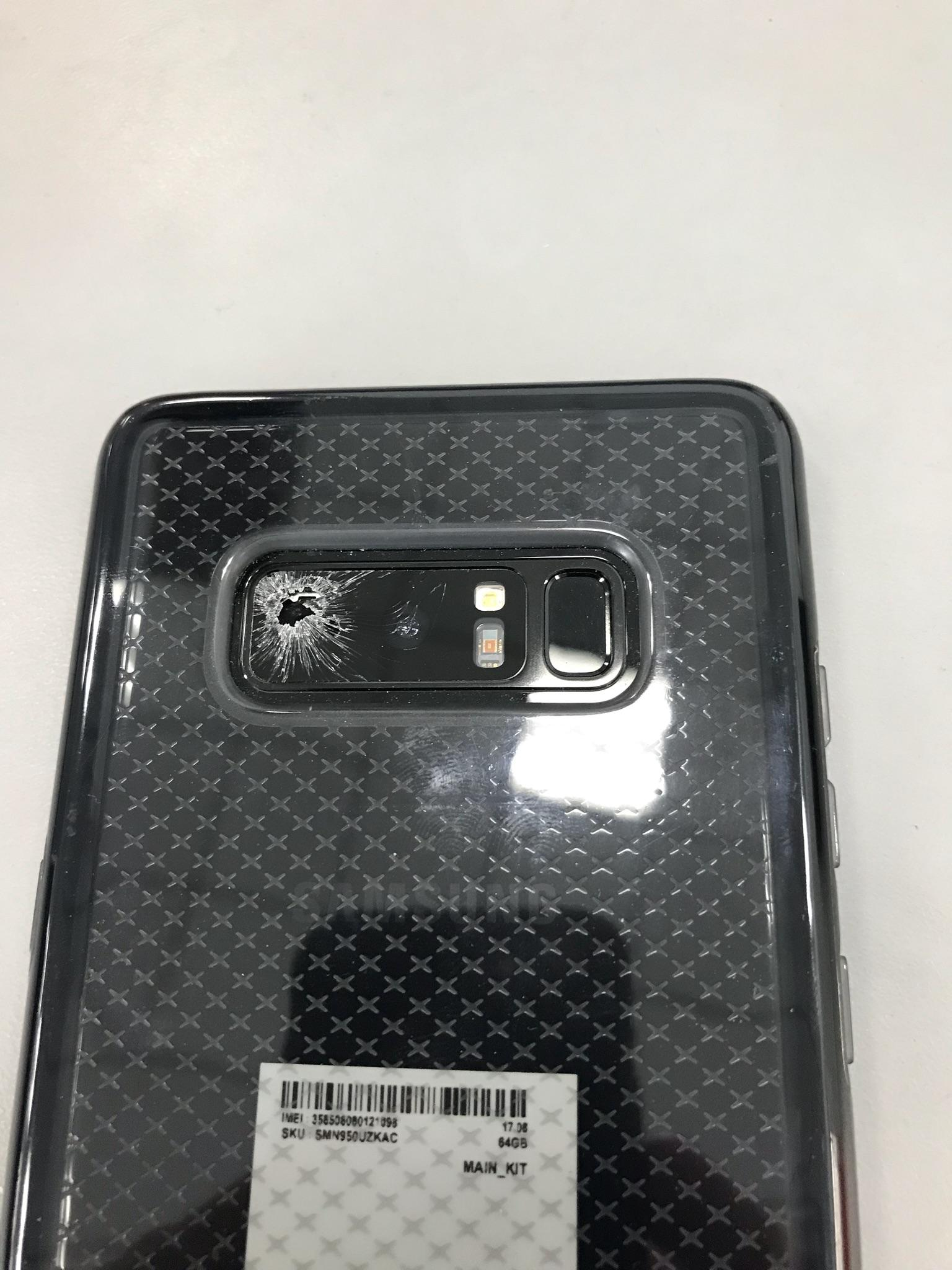 Solved: Galaxy Note 8 rear camera glass cracked - Samsung Community