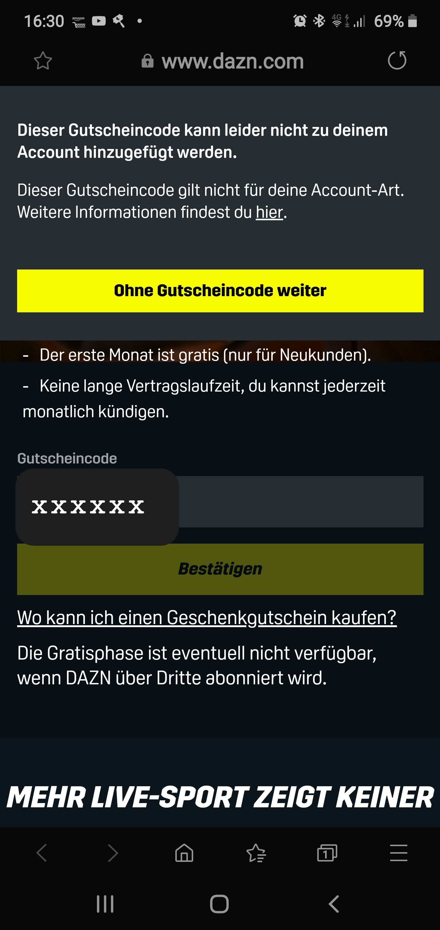 Sky Ticket Registrierung