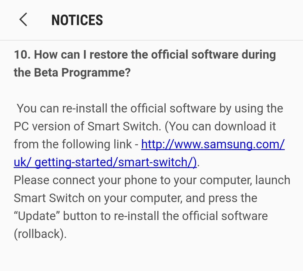 S8-Can I downgrade from Oreo back to Nougat? - Samsung Community