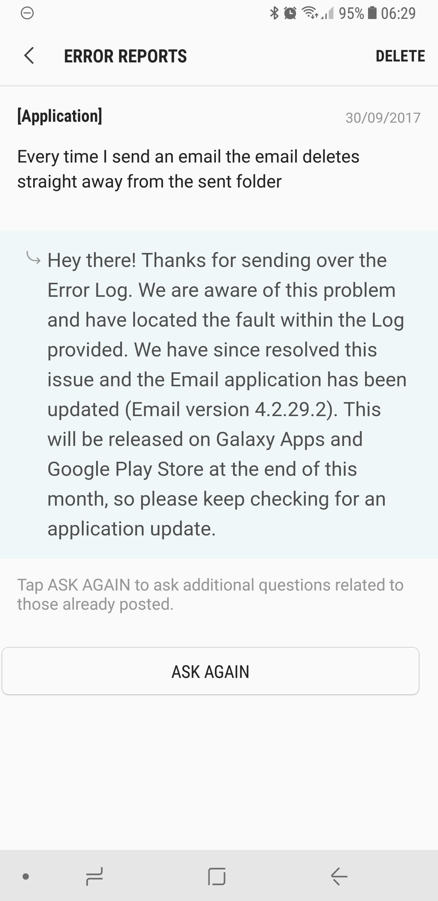 Solved: Emails (sent item) - Samsung Community