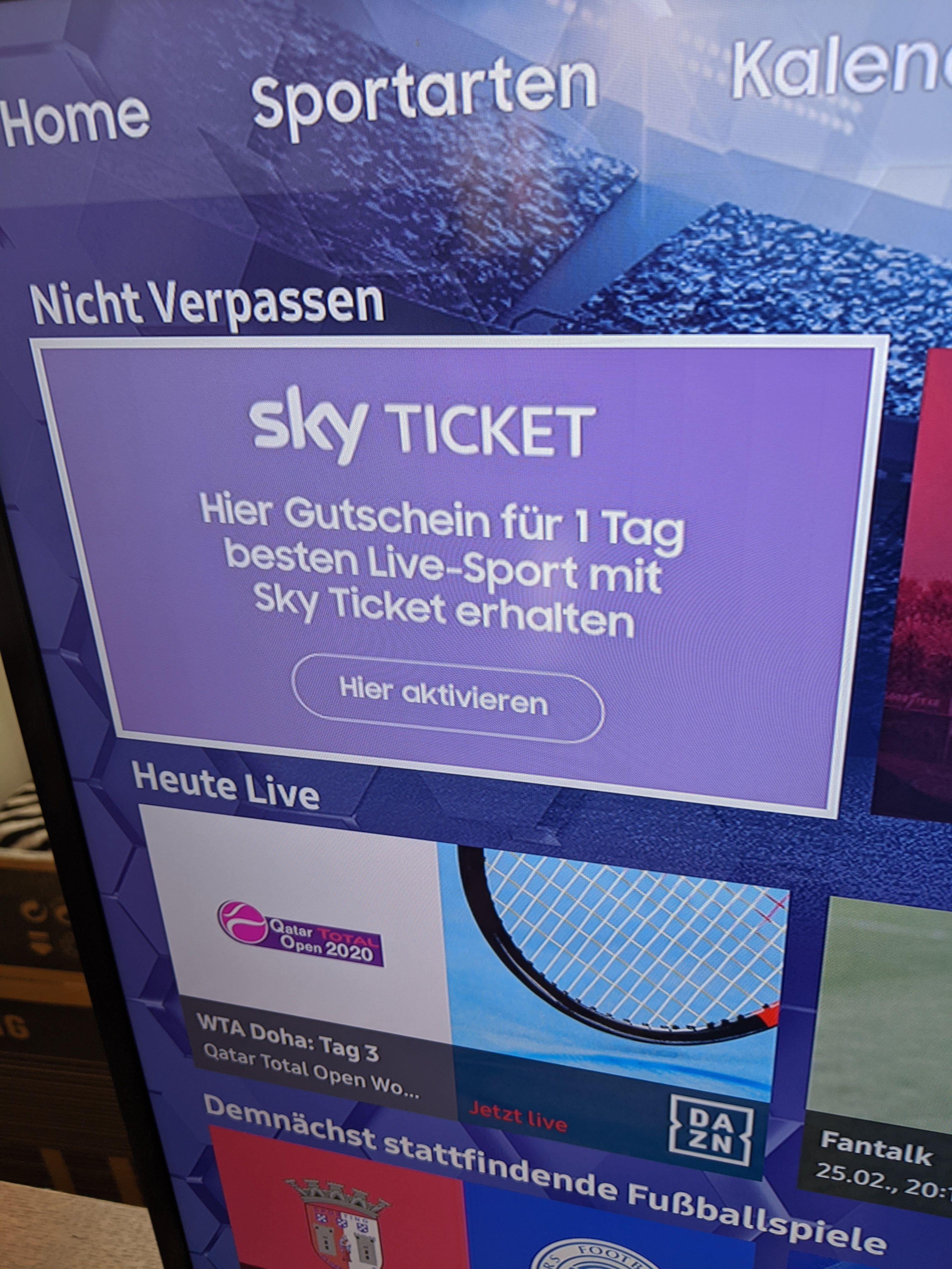 Sky Ticket App Samsung Tv