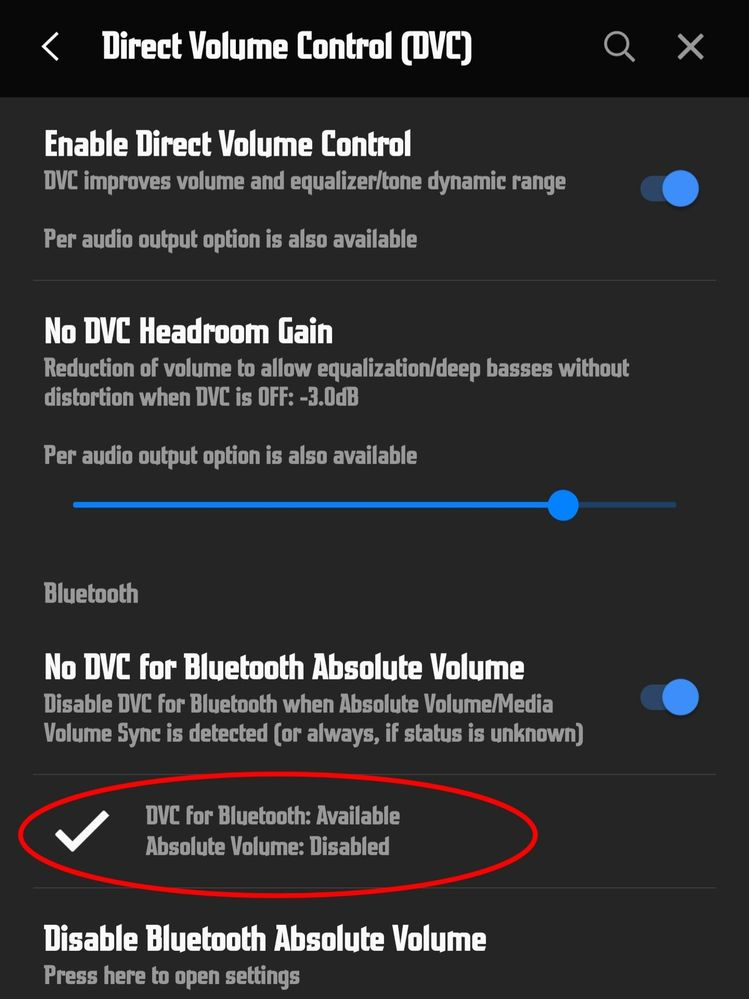 Make sure DVC is enabled for Bluetooth in Poweramp Setting > Audio >  Direct Volume Control (DVC)