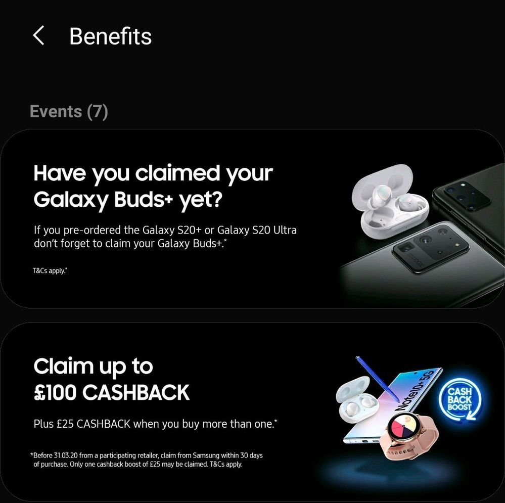 Samsung Members > Benefits