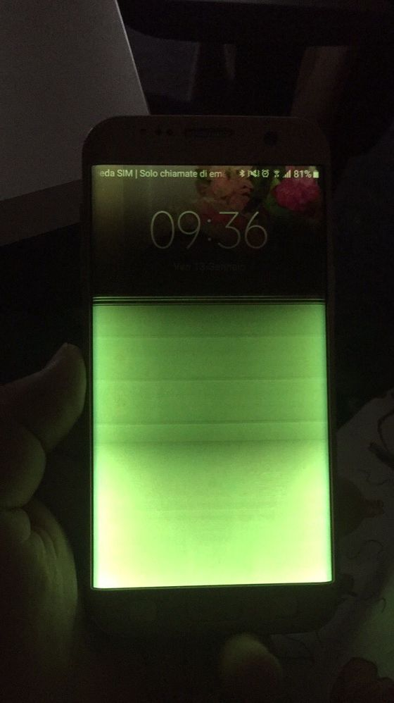 Samsung Galaxy S7 Edge Schermo Diventato Verde Allimprovviso