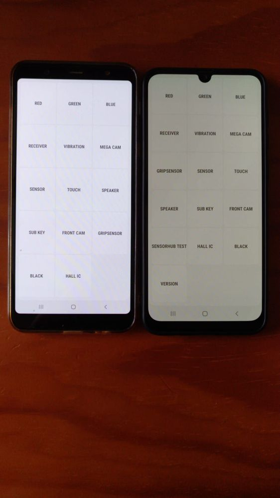 White screen in A50 looks like a little yellow/grey