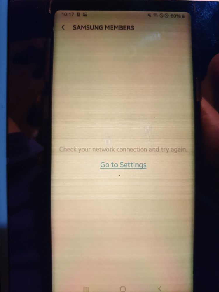 Screen of samsung note 9 after the latest update.