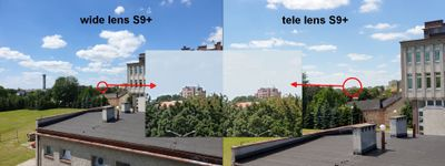 wide vs tele (S9+)