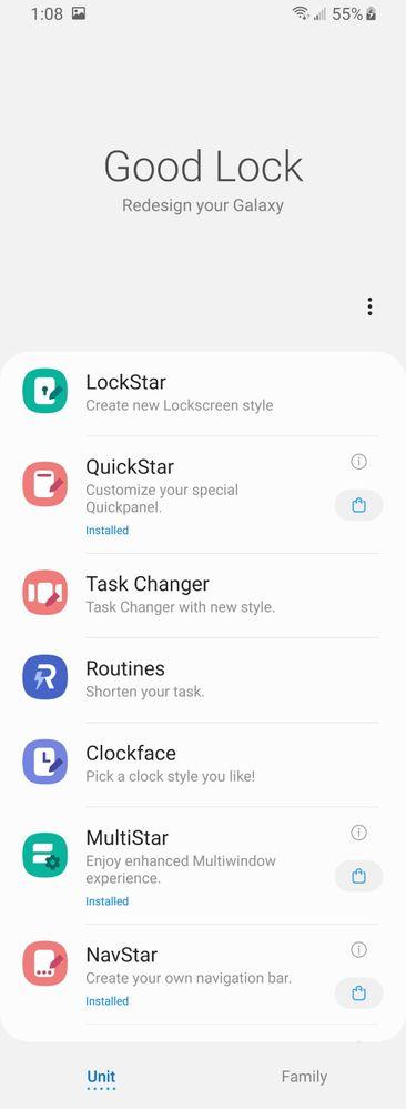 Open/install multistar from Good Lock app