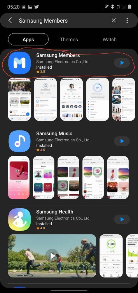 Download Samsung Members App.
