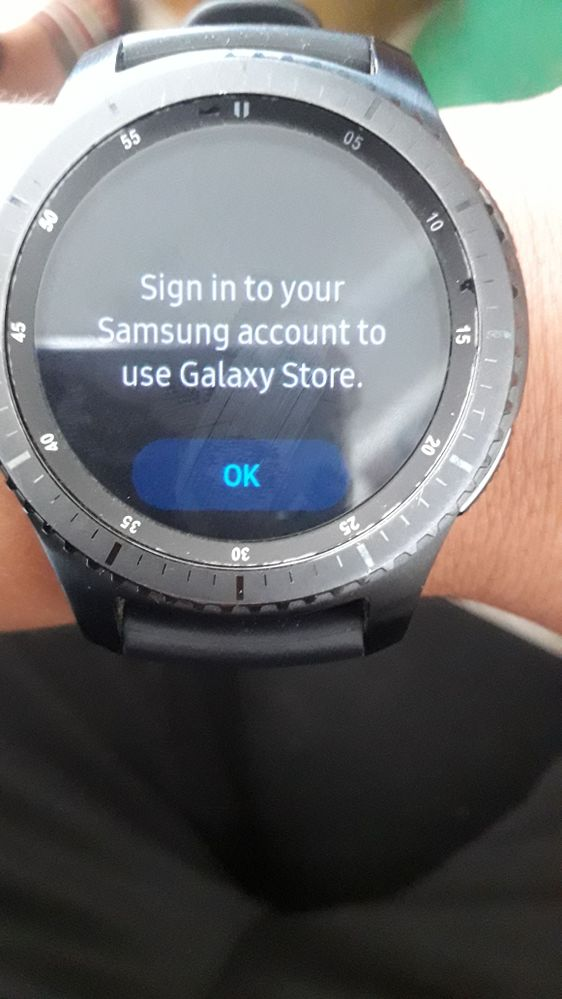 while trying to update Bixby on gear s3 frontier