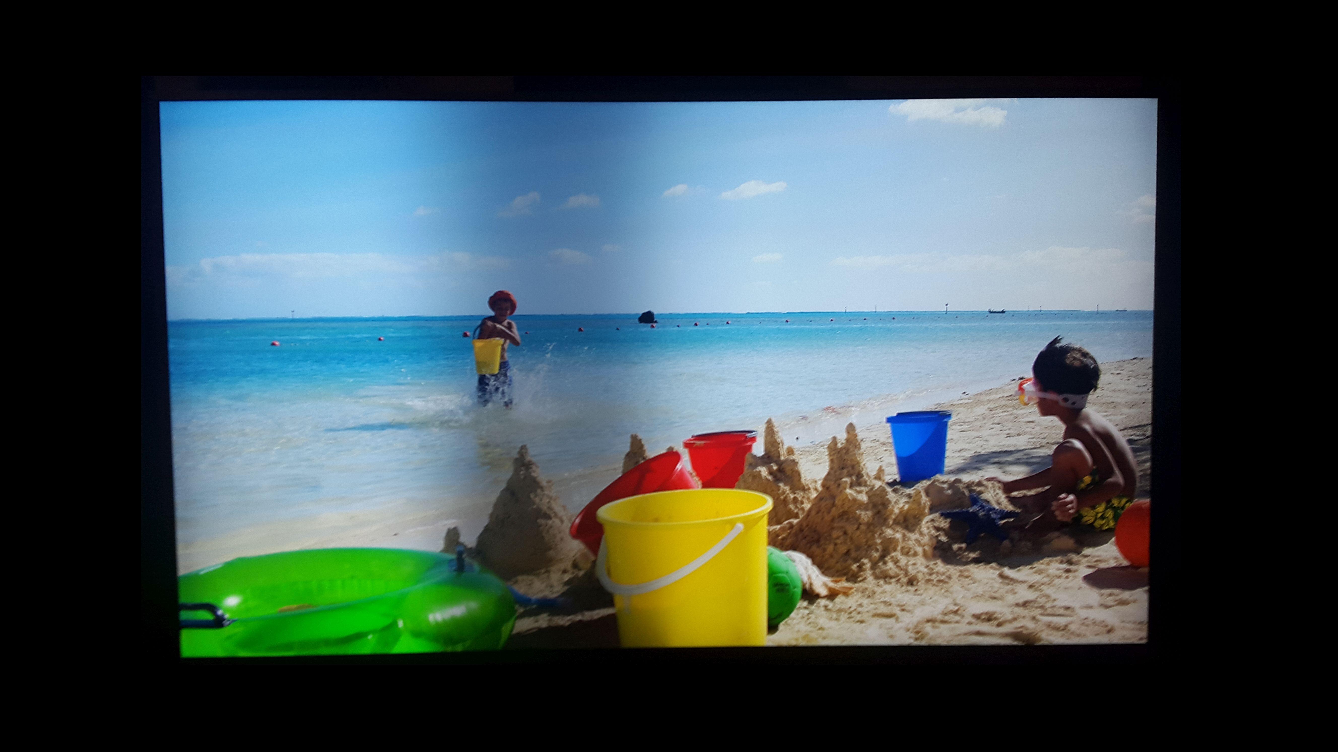 Opgelost: Dark band on screen of TV - Samsung Community
