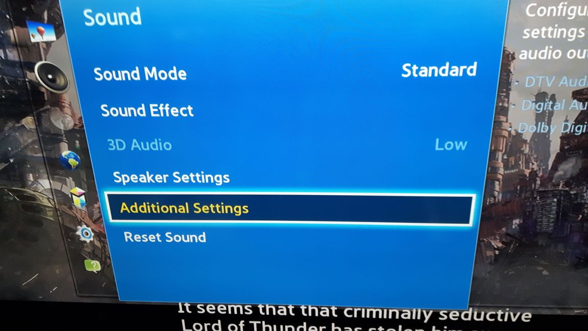 Solved: UE49MU7070 & HW-MS650 soundbar low volume problem