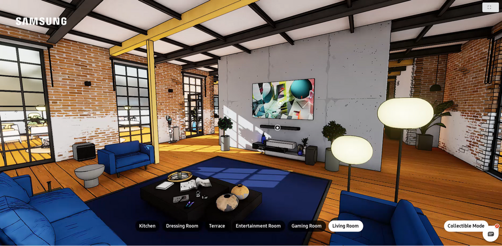 Explore the Samsung house, in superhero collectible mode (Easter Egg for collecting all Comics)