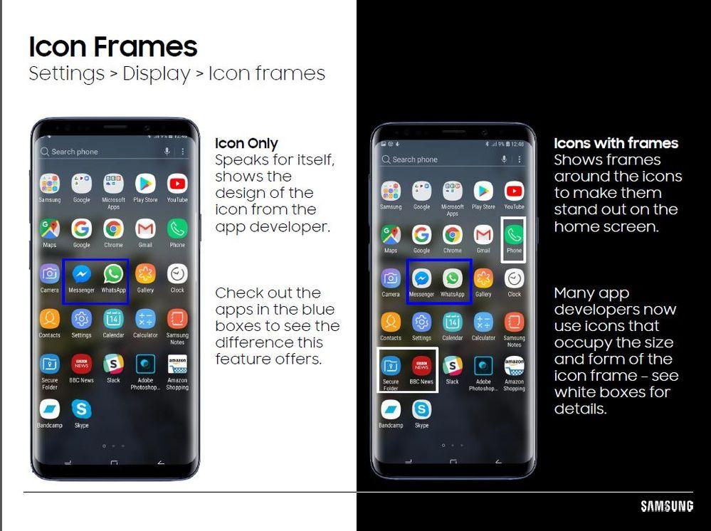 Icon Frames - Samsung Community