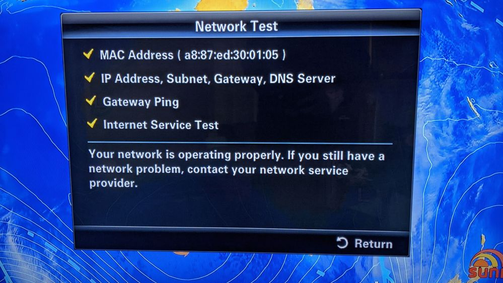 NETWORK OPERATING PROPERLY BUT ......