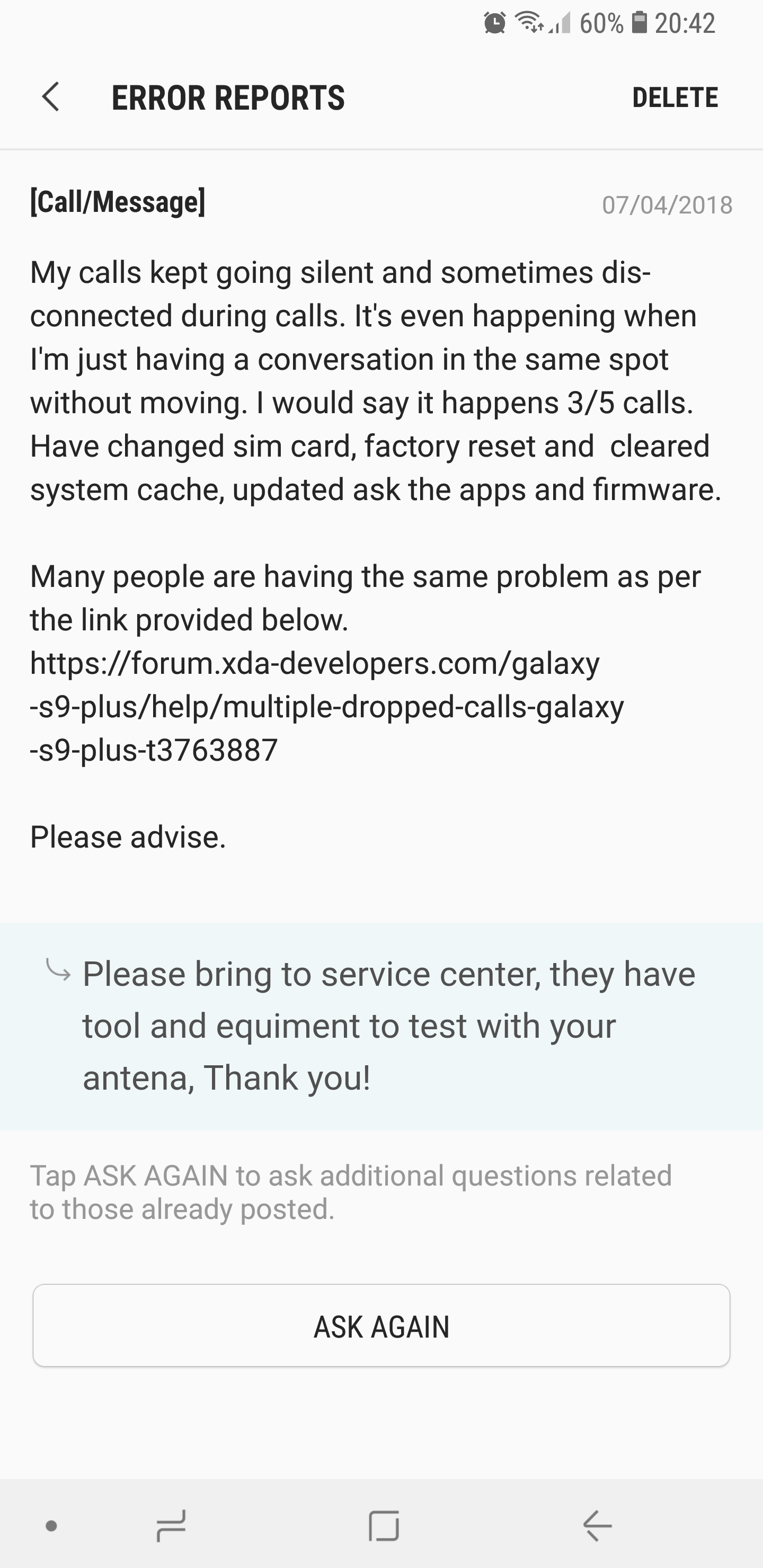 S9 speaker phone cutting out on call - Page 2 - Samsung