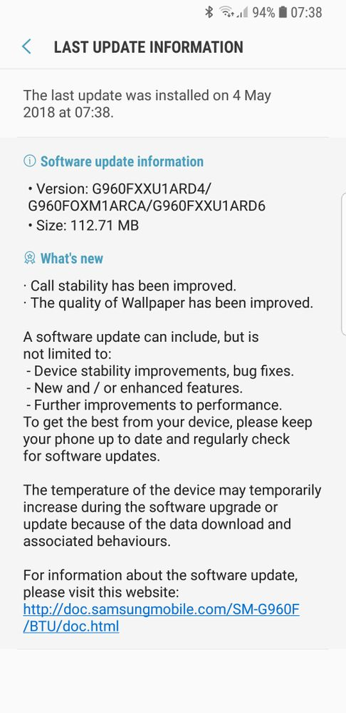 Just got the update in the UK this morning on unlocked  unbranded S9. Will see how it goes and report back.