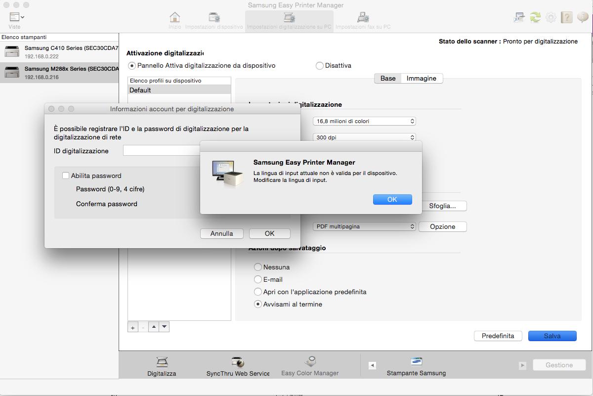 Problema con Easy Printer manager e Scan to PC - Samsung ...