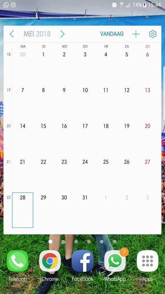 Samsung Agenda Helemaal Leeg Samsung Community