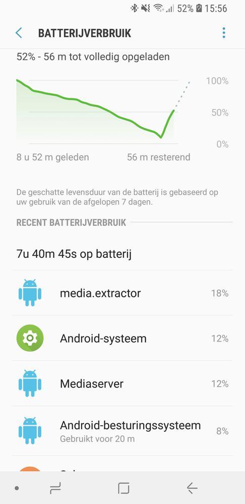 batterij samsung s9 snel leeg