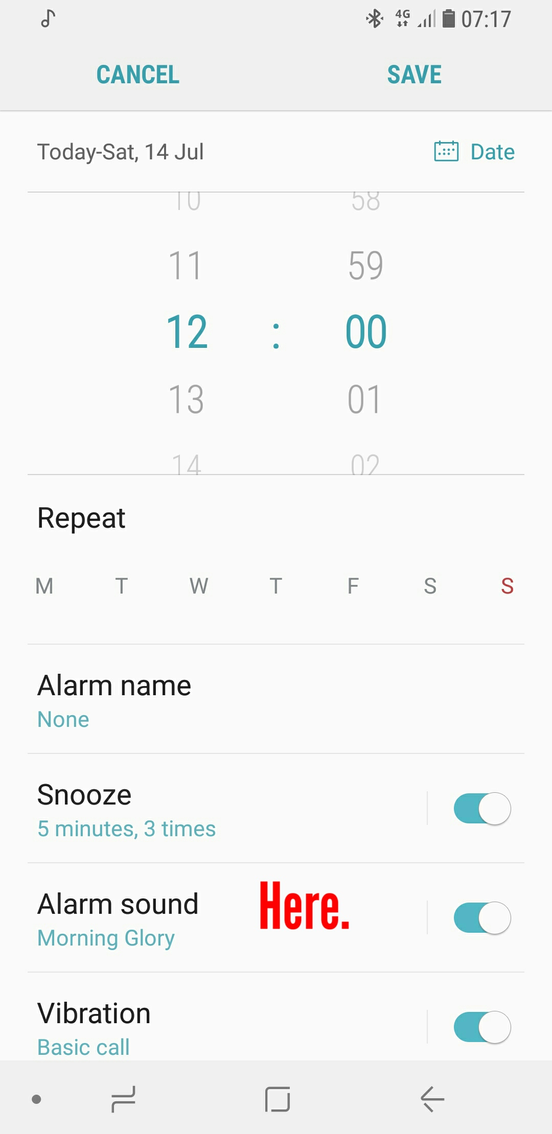 Solved: How do i change the alarm sound - Samsung Community