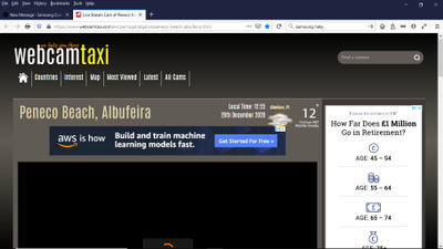 Webacmtaxi on my laptop