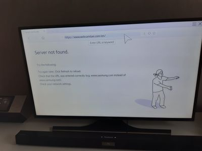 webcamtaxi not showing on our TV