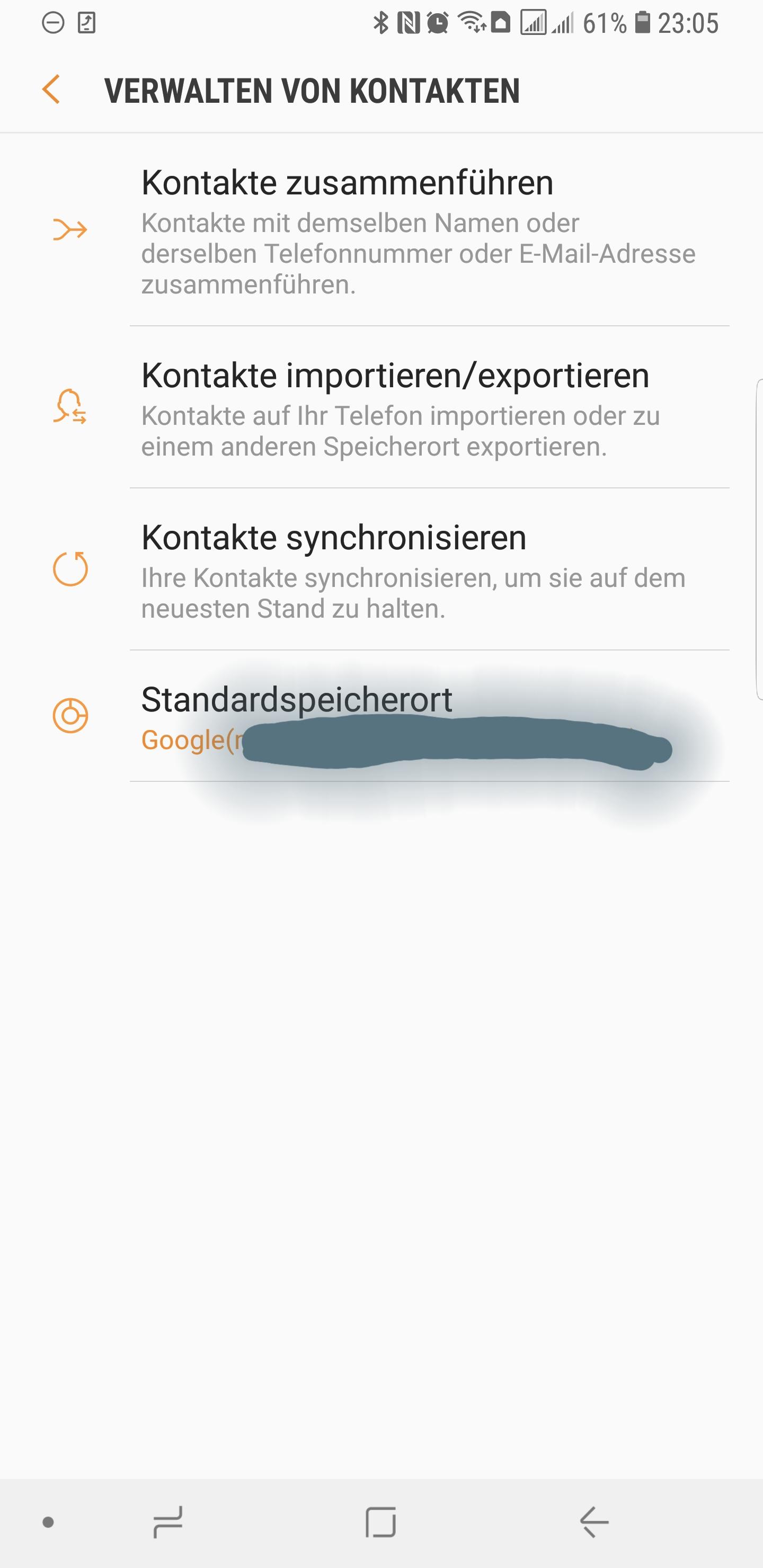 Google account kontakte exportieren
