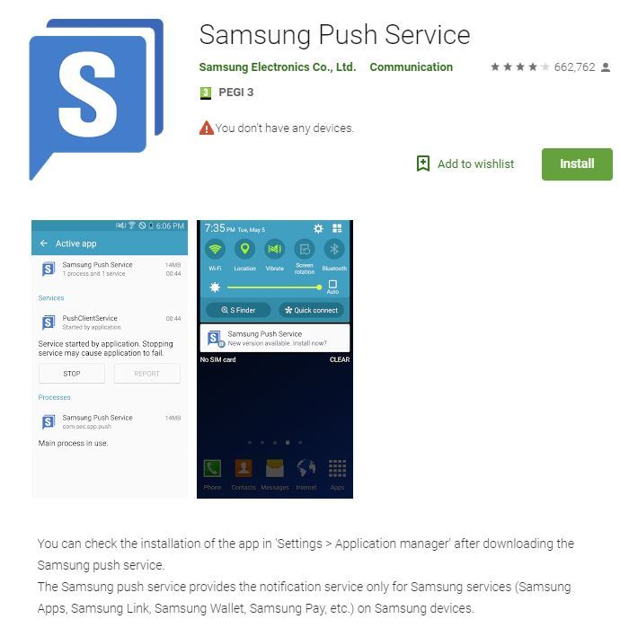 Image result for Samsung Push Service