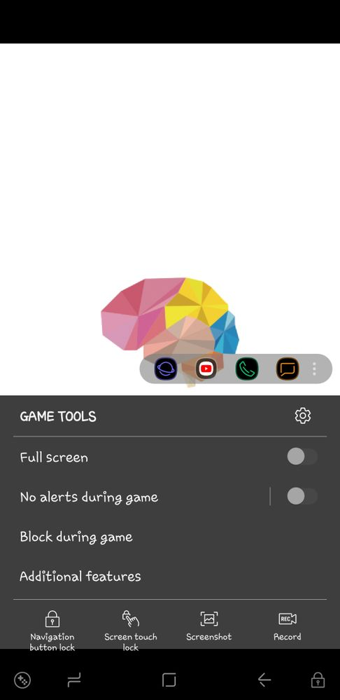 Open game tools setting from navigation bar