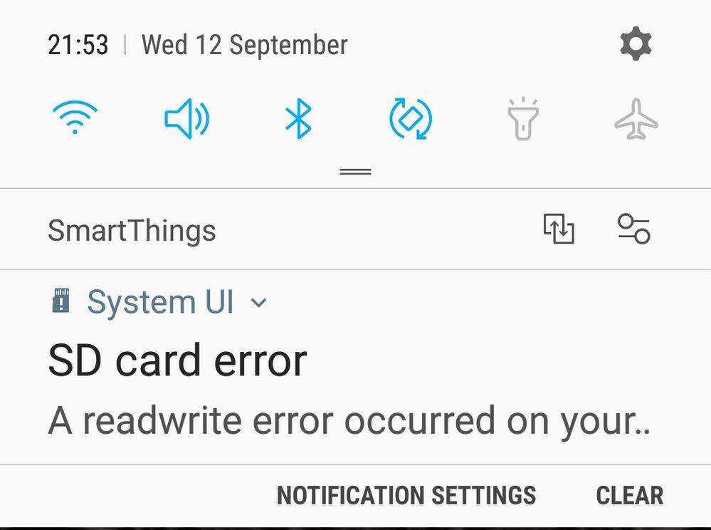 Strange error code on new S9 - Samsung Community
