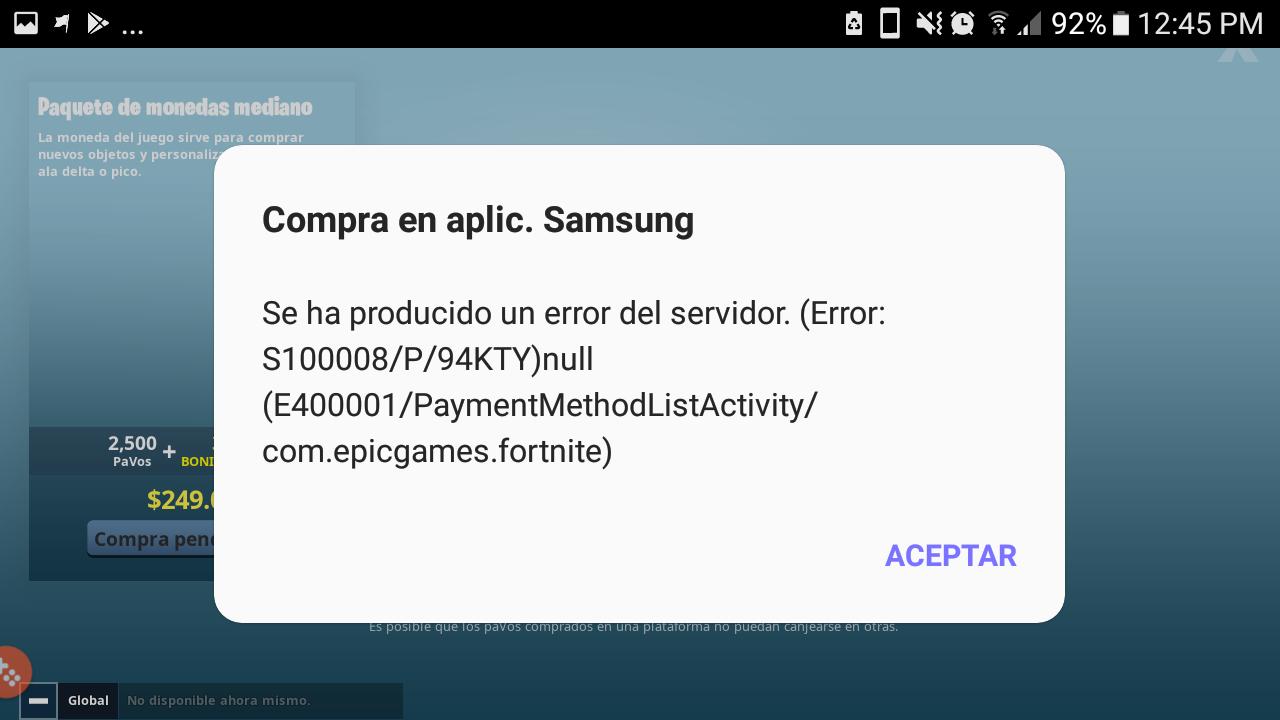 Samsung Billing Server Error - Samsung Community