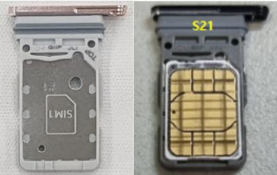 Front facing SIM card tray