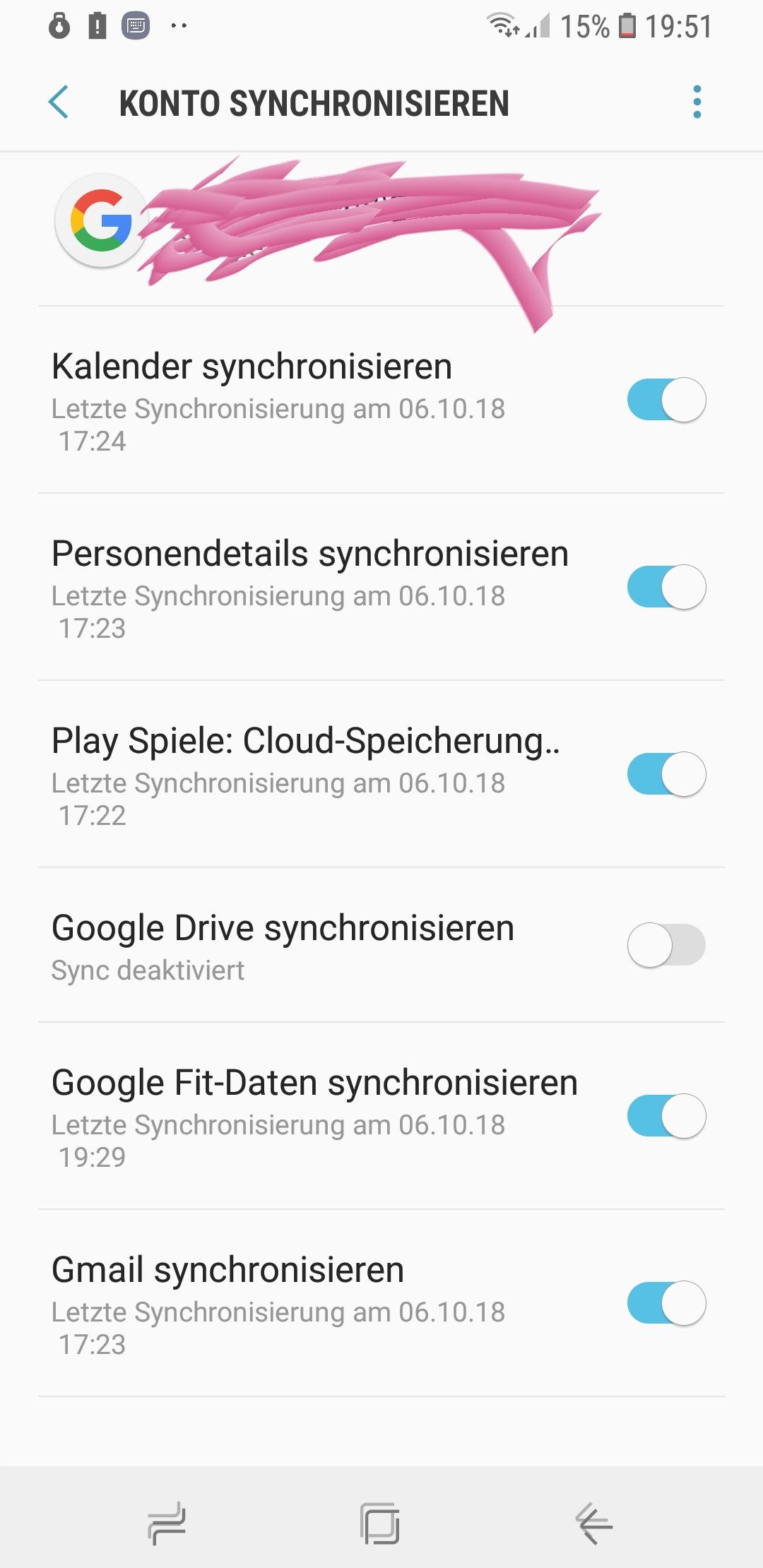 Google konto kontakte nicht synchronisieren