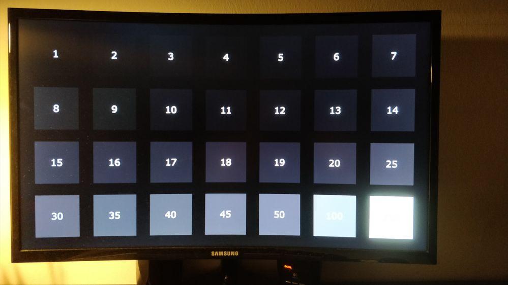 Black test monitor