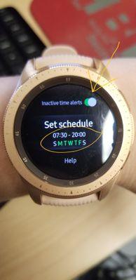 Galaxy Watch settings