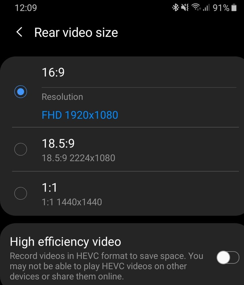 Solved: No 4k videos recording neither 60fps on Android Pie