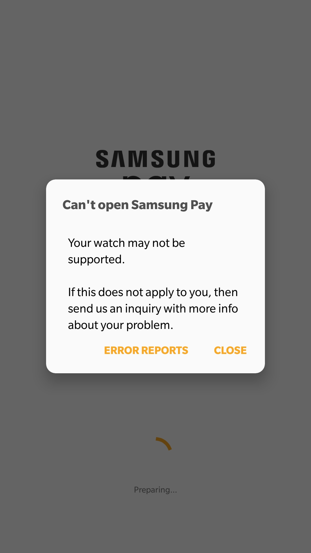 Solved: Galaxy Watch Samsung Pay plug-In not installing