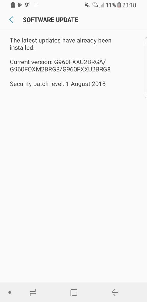 Still stuck on August security patch