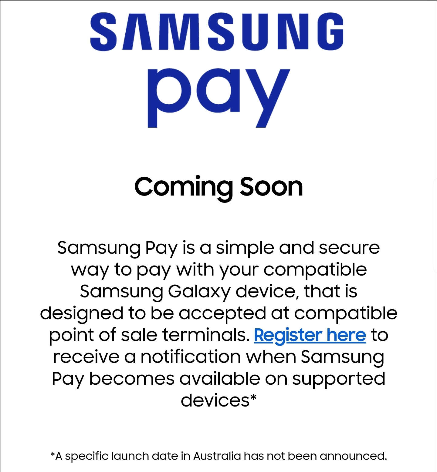Solved: Change samsung pay location - Samsung Community