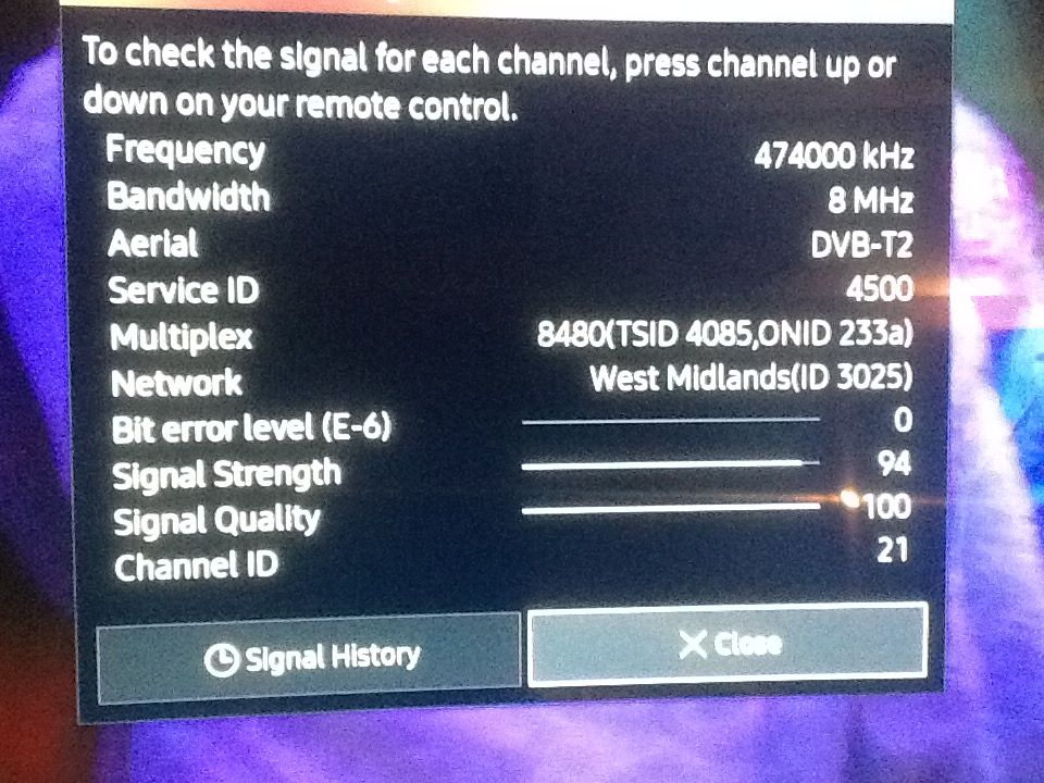 Can't tune in all Freeview channels on ks9000 series tv - Samsung