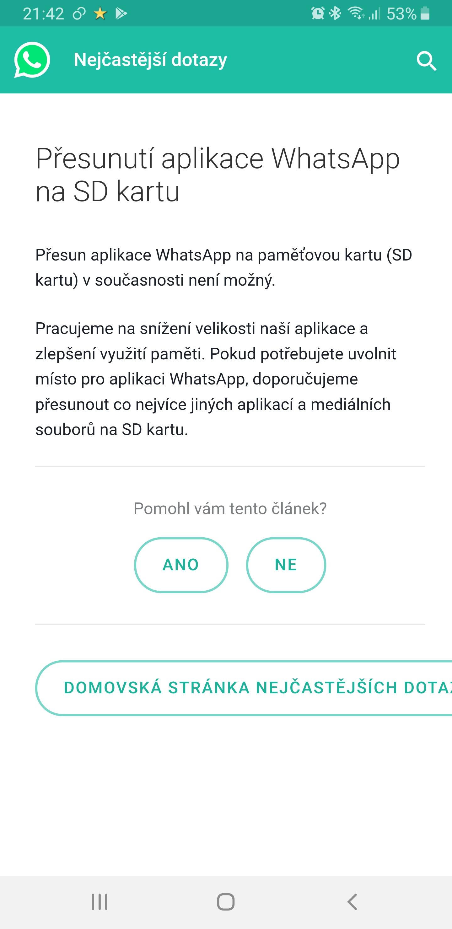 whatsapp auf sd karte verschieben