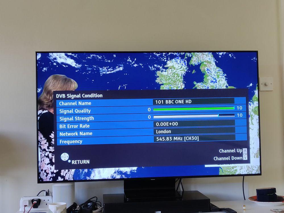 STB  BBC1 HD signal info