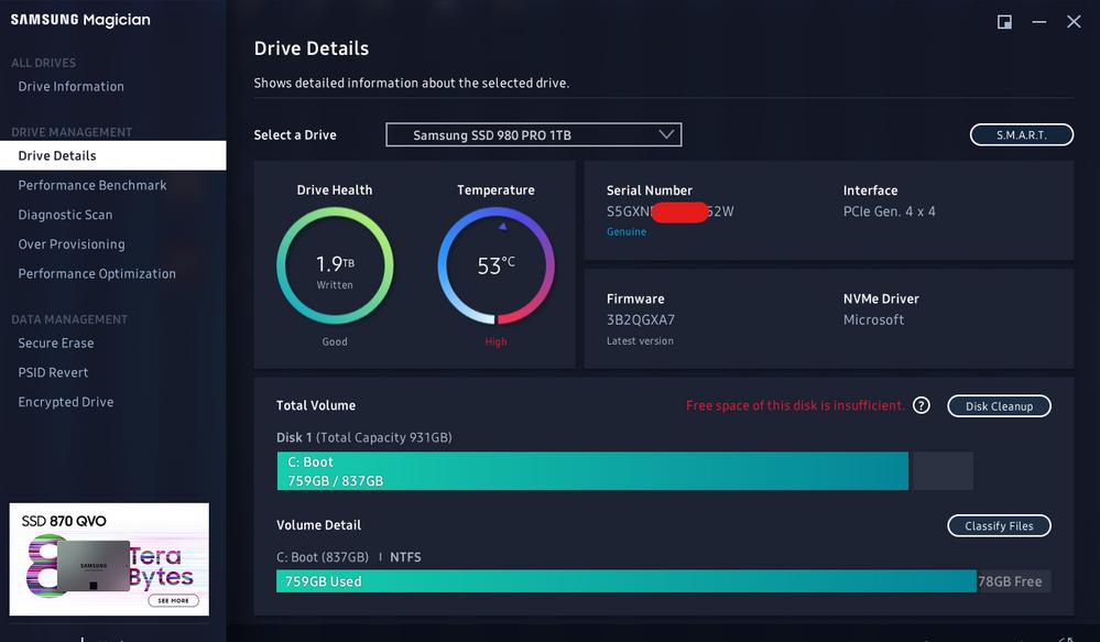 Drive info