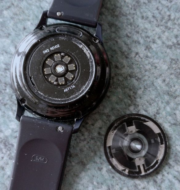Rear cover has come away from the main body of the watch