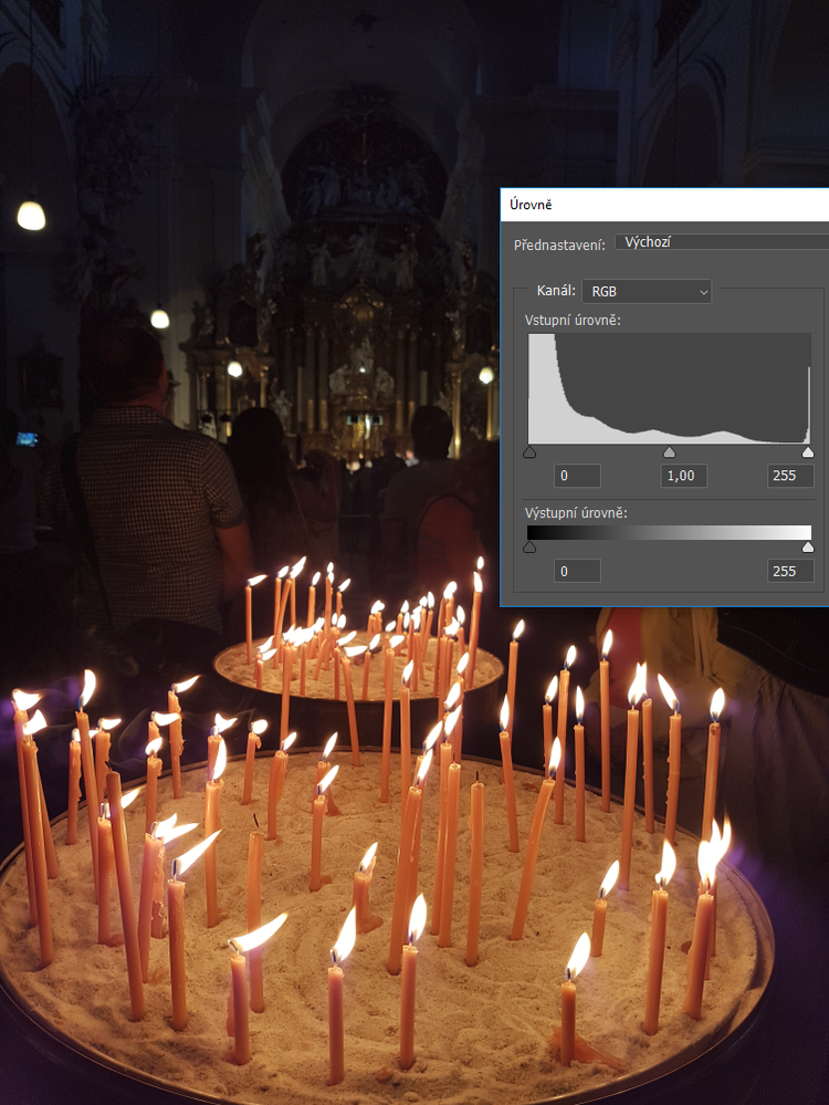 The histogram is pressed to the left and to the right. Yet it is correct because it is a dark scene with light elements.