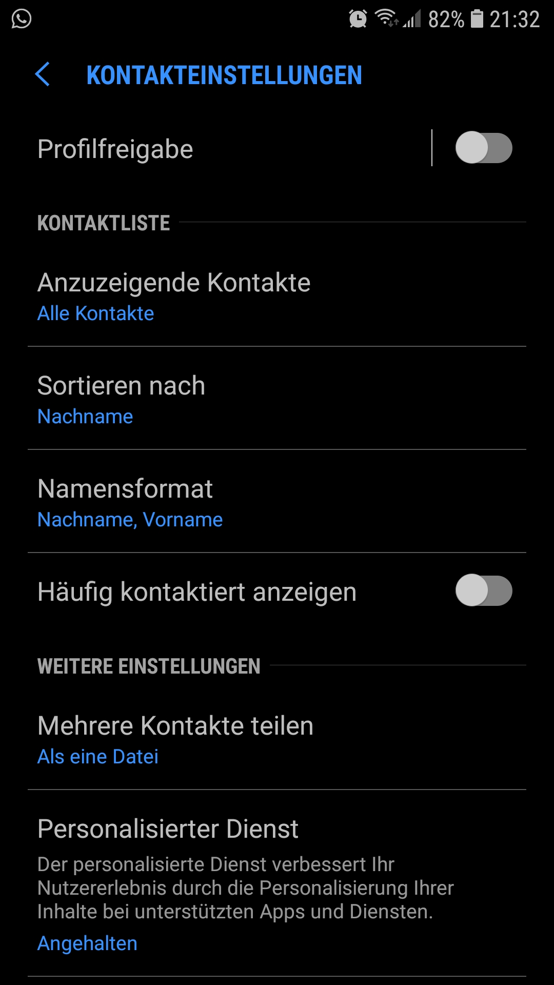Whatsapp häufig kontaktiert löschen